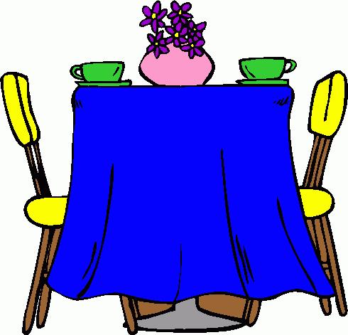 Dinner Table Clipart Table Clip Art Set Table